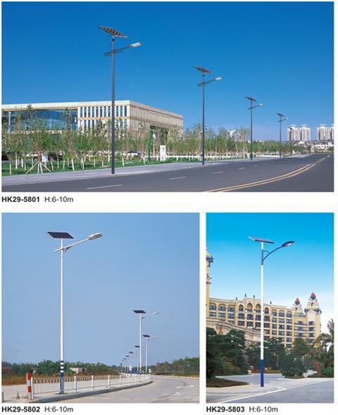 """太阳能路灯成为了农村""""新成员""""  在一些村庄,绿色照明 太阳能路灯也图片"""