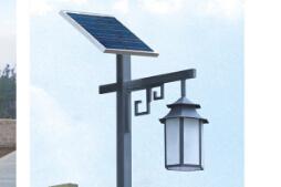 安装使用led太阳能庭院灯蓄电池和灯具注意事项