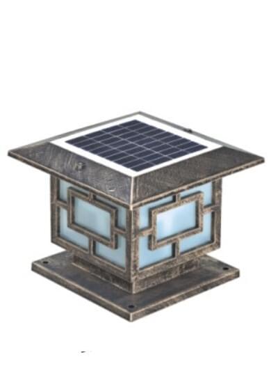 led太阳能柱头灯HK13-95306