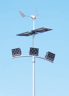 12米太阳能风光互补路灯HK30-22003