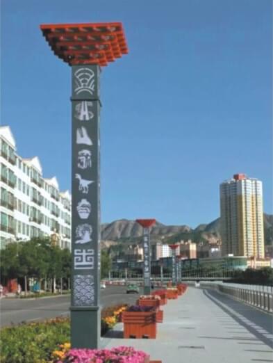 【led景观灯案例】甘肃省兰州市道路景观亮化工程