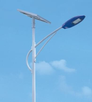 华可:120套甘肃农村太阳能路灯安装完毕