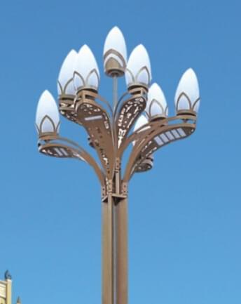 华可恭贺湖北客户80套led玉兰灯安装完毕