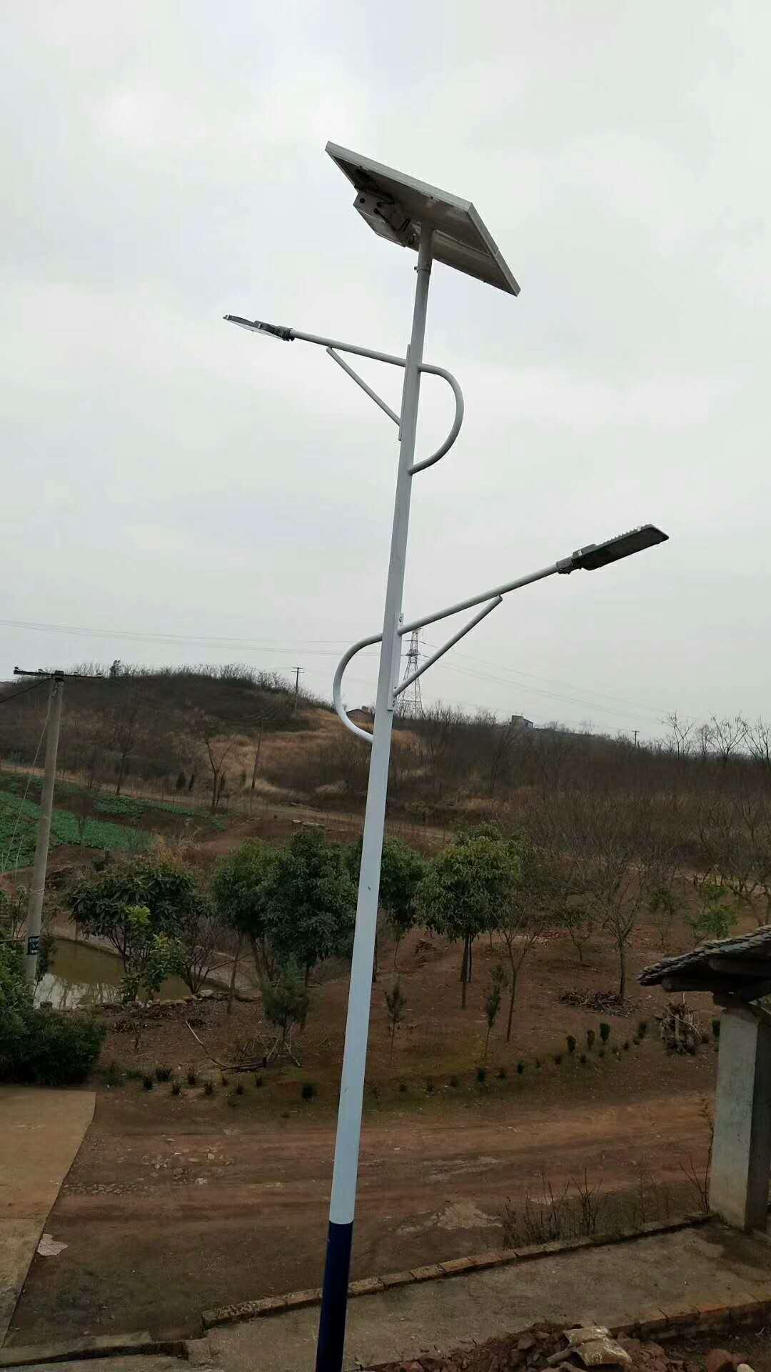 【华可案例】山西临汾68套农村太阳能路灯安装完毕!