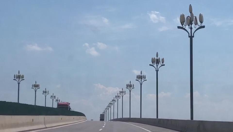 华可路灯led玉兰灯湖北省松滋市新江口镇景观亮化工程项目展示
